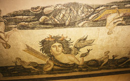 Old mosaic in Hatay archeology Museum,Turkey Stock Image