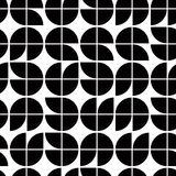 Old mosaic seamless background, vector black and white retro sty Vector Illustration