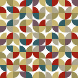 Old mosaic seamless background, vector retro style design. Royalty Free Stock Image