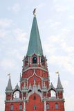 Old Moscow Kremlin tower decorated by a ruby star. Royalty Free Stock Photos