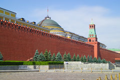 Old Moscow Kremlin Wall in summer day, Russia Royalty Free Stock Photography