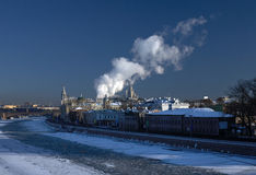 Old Moscow in winter Royalty Free Stock Image