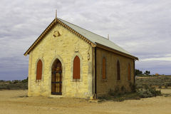 Old Mosonic Building - Silverton. The old Masonic Hall, left in Silverton Ghost town. Outback Australia Royalty Free Stock Image