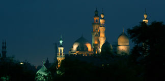 Old mosque in cairo in egypt at night Stock Photos