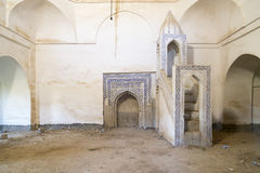 Old mosque in Iraq. Abandoned mosque over Kirkuk castle in Iraq Royalty Free Stock Photography