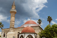 Old Mosque at Kos island in Greece Royalty Free Stock Images