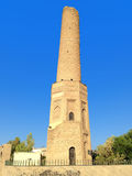 Old mosque. The minaret of ancient mosque in Erbil stock image