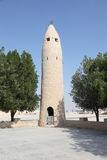 Old mosque minaret in Qatar Stock Photo