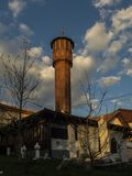Old mosque from ottoman period. One small mosque in the old part of Sarajevo, Bosnia. It originates from the Ottoman period, and it is interesting that it has a Royalty Free Stock Photography