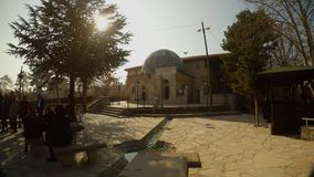 Old mosque on the outskirts of the Turkish city of Konya. KONYA / TURKEY - 11.20.2016 central streets of the ancient Turkish city stock video footage