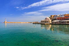 Old mosque in the port of Chania on Crete Stock Photography