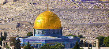 Old mosque of the Rock, old Jerusalem Royalty Free Stock Photos
