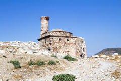 Old mosque. Ruins of an old mosque at Ayasuluk Hill, Selcuk Ephesus IZMIR, Turkey Royalty Free Stock Photos