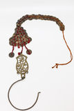 The old mosquito curtain hook  with the Qing Dynasty coins Stock Photo