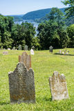 Old moss covered gravestones at Harpers Ferry Royalty Free Stock Photo