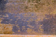 Old mossy brick wall background, Attractions Sri Lanka Royalty Free Stock Photos