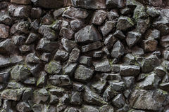 Old mossy grey cobbles texture close up Stock Photography