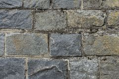Old mossy stone wall Stock Photos