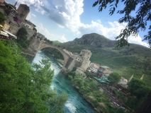 Old Mostar Bridge royalty free stock images
