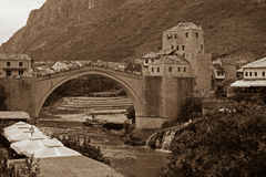 Old Mostar Bridge Royalty Free Stock Photos