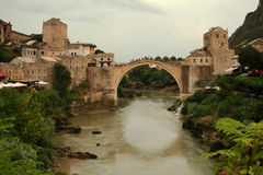 Old Mostar Bridge Stock Photo
