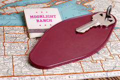 Old Motel Room Key Royalty Free Stock Photos