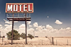 Old motel sign stock photos