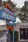 Old Motel Sign on Route 66 in New Mexico stock image