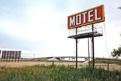 Old motel sign Royalty Free Stock Images