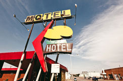 Old motel sign Royalty Free Stock Image