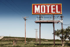 Old motel sign on Route 66 Royalty Free Stock Photo