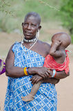 Old mother masai Stock Photography