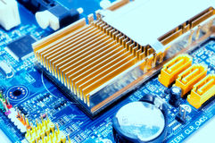 Old motherboard Stock Photo