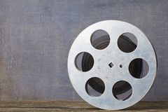Old motion picture film reel Stock Photo