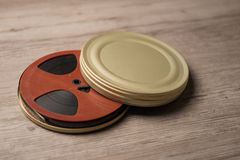 Old motion picture film reel Royalty Free Stock Photo