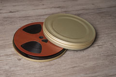 Old motion picture film reel Royalty Free Stock Image