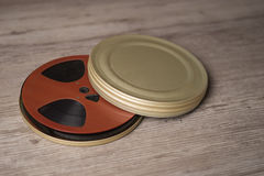 Old motion picture film reel Royalty Free Stock Photos