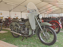 Old Moto Guzzi Falcone belonged to the italian traffic police Royalty Free Stock Photo