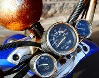 Old moto panel Stock Photo
