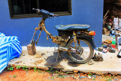 Old moto to be repaired Stock Photos