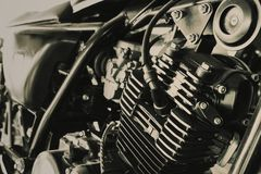 Free Old Motocycle Engine Of Chopper Brown Vintage Tone Royalty Free Stock Photos - 120731948
