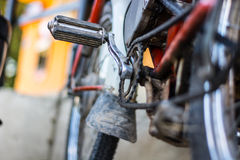 Old motor bike. Parts of the old motor bike Stock Photography
