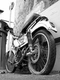Old motor-cycle 1. Motor cycle in Rome, Italy Royalty Free Stock Photos