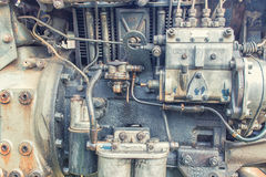 Old Motor. Old rusty and greasy motor Royalty Free Stock Image