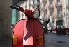 Old motor scooter Stock Images
