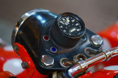 Old motorbike control panel with speedometer Stock Photography