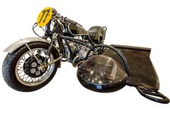 Old motorbike stock images
