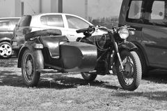 Old motorbike with a sidecar Stock Image