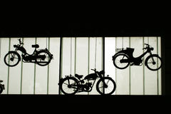 Old motorbikes Stock Images