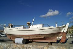 Old motorboat. Powerboat Royalty Free Stock Images
